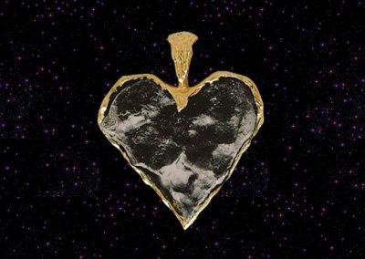 Wisiorek z meteorytem