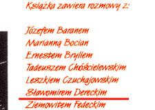 """Fragmenty z książki """"Między logos a mythos"""" Zbigniew Kresowaty, Wydawnictwo Krytyki Artystycznej Miniatura, 2005"""