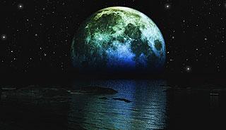 Fragment księżyca jak na dłoni