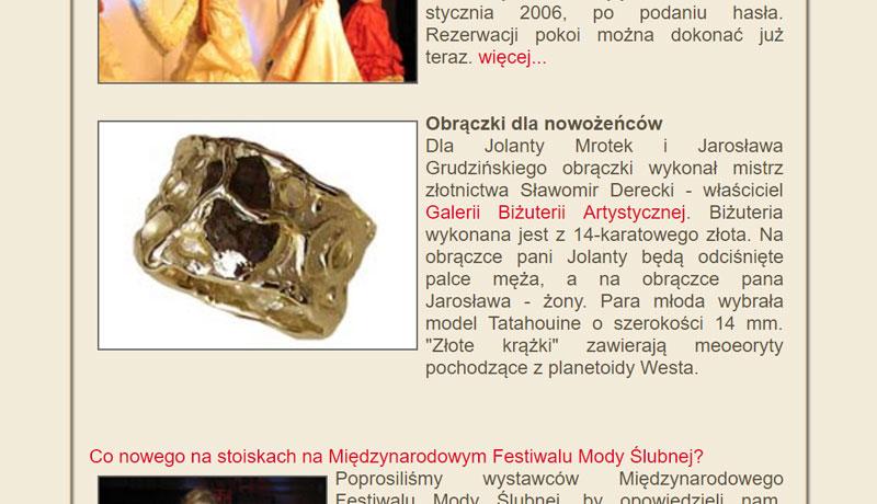 Festiwal Mody Ślubnej Warszawa Torwar 2006