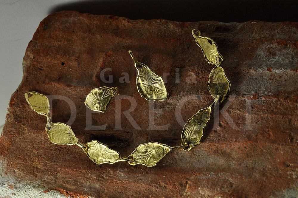 Biżuteria z liniami papilarnymi