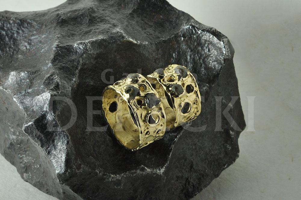 Obrączki z meteorytem tataouine