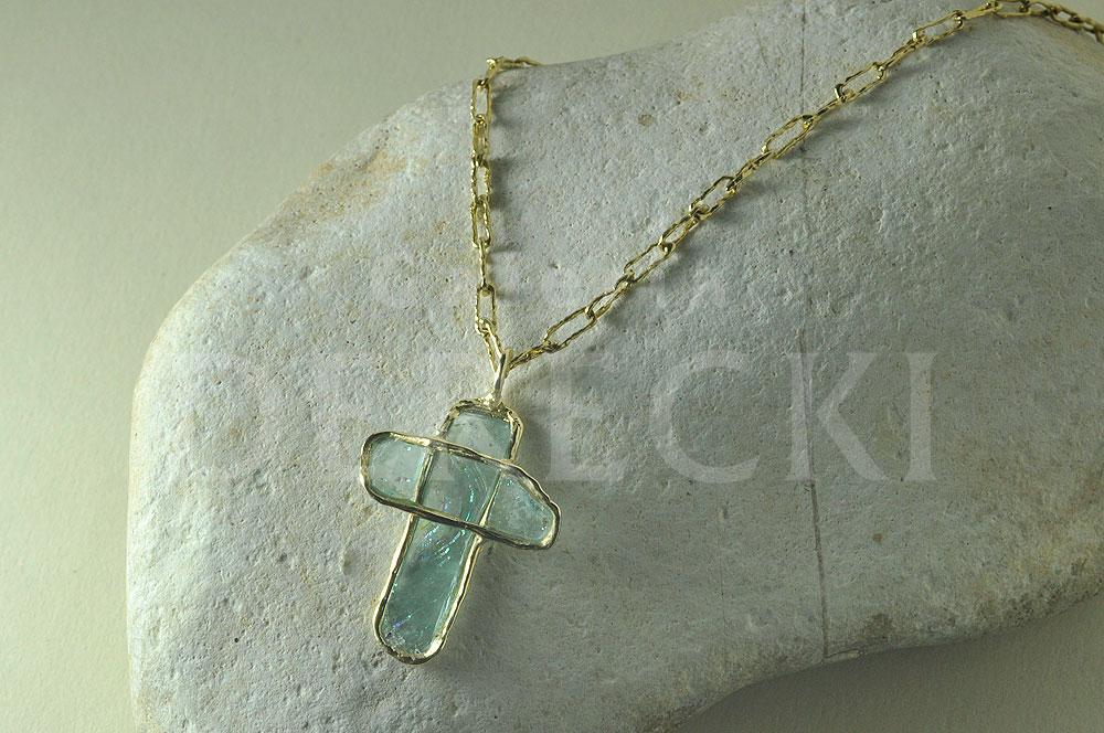 Krzyżyk witrażowy - roman glass