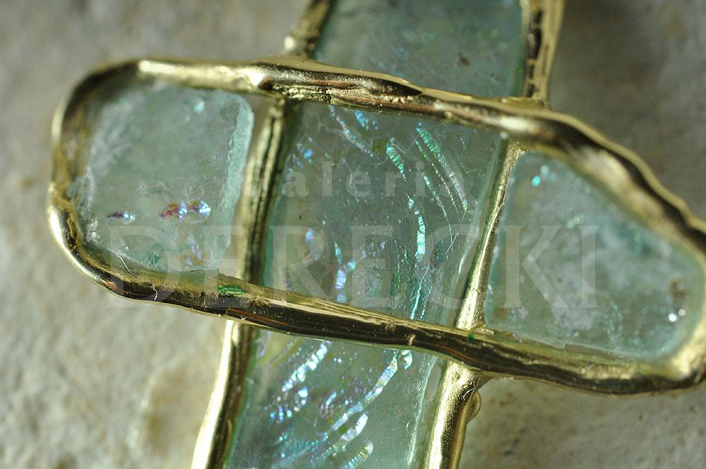 Krzyżyk - szkło rzymskie