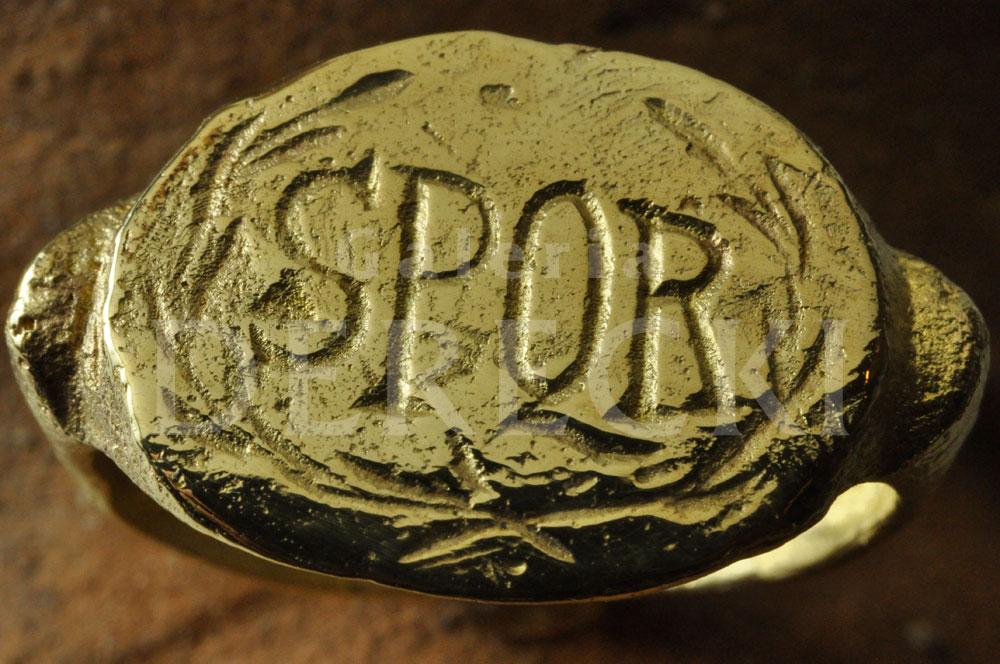 Sygnet w stylu rzymskim SPQR