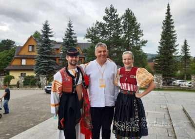 Górale Słowaccy chętnie opowiadali o sztuce i tradycji.